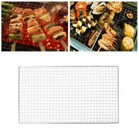 Outdoor Stainless Steel BBQ Barbecue Grill Grilling Net Mesh Wire Cooking P4N9