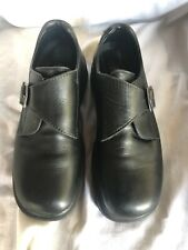 Dr. Martens Mens Size 7 Monk Strap Buckle Black Leather Made In England 9387