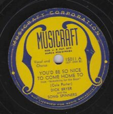 Dick Bryer on 78 rpm Musicraft 15011: You'd Be So Nice to Come Home To/Over Ther