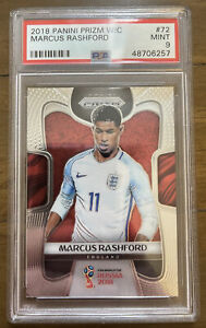 2018 Panini Prizm World Cup #72 Marcus Rashford PSA 9 Mint
