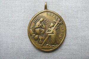 C18th Catholic Medal -- Virgin Mary -- St. Bernard -- St. Benedict -- Religious