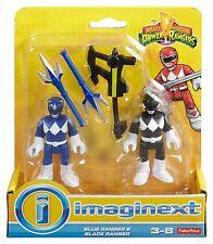 Imaginext Mighty Morphin Power Rangers - Blue Ranger and Black Ranger *NEW*