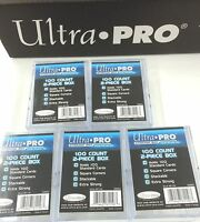 Ultra Pro 100 Count 2-Piece Clear Storage Box x10--Best for 100 Trading card Set