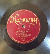 78 RPM RECORD -FRANK FERERA HAWAIIAN TRIO -DREAMY HAWAII & DARK HAWAIIAN EYES