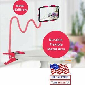 Flexible 360 Clip Mobile Cell Phone Holder Lazy Bed desk Bracket Mount Stands us