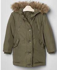 NWT GAP Kids Girls Warmest Puffer Parka Olive Winter Coat Size M Plus