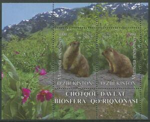Usbekistan 2012 Biosphärenreservat Murmeltier Block 65 postfrisch (C29309)