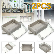 Pair Electronic Waterproof Clear Cover 85X58X33MM Box Enclosure Case ABS