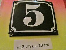 Emaille-Hausnummer Nr.63 dunkel-blau Zahl auf weißem Hintergrund 12 cm x 12 cm