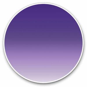 2 x Vinyl Stickers 15cm - Pretty Purple Violet Ombre Cool Gift #2683