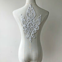 Vintage Corded Embroidery Lace Applique Flower patch for Bridal Veil