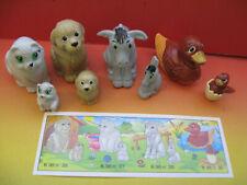 K98-27-30  ANIMALI DOMESTICI CON CUCCIOLI serie completa + tutte cartine KINDER