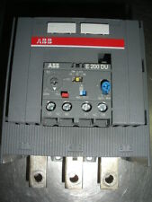ABB E200DU200 thermal overload realy adjustable 60-200A 600v solid state
