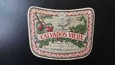 ANCIENNE ETIQUETTE ALCOOL CALVADOS VIEUX EMILE SUZANNE JOUNEAU PARIS