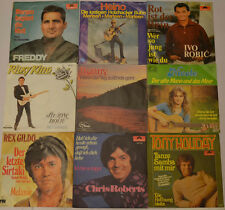 "PAKET- 9 SINGLES- FREDDY-HEINO-ROBIC-KING-NICOLE-RONNY-HOLIDAY Unique 7"" (J196)"