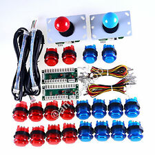 Arcade USB Controllers Kit 2 Joystick + 20 LED Illuminated Button & Encoder MAME