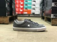 Converse One Star Suede OX Mens Low Top Skate Shoes Grey/White 153962C All Sizes