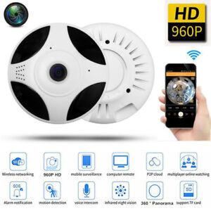 960P Fish-eye 360°Panoramic Surveillance Camera Wireless Wifi Monitor Home Lot