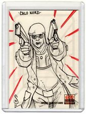 CALO NORD Topps STAR WARS GALAXY 5 SKETCH CARD by JASON SOBOL