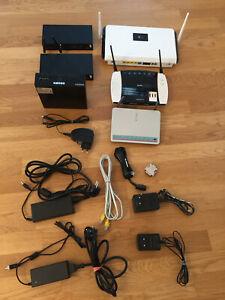 3 Ruter, 2 Modem, MiniPC, etliche Kabel u. Netzteile DEFEKT