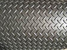 """1/8"""" Diamond Plate Poly Rubber Mat Flooring 2' long x 4' wide, 3.175 mm"""