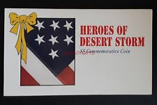 To The Heroes of Desert Storm $5 Commemorative Coin - Sealed & Uncirculated New