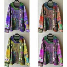 Oversize V-Neck T Sleeve Women Long US thin Blouse Floral Shirt Lantern Tops