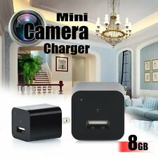 8G USB Mini SPY Camera Video Recorder Wall Charger AC Adapter DV Surveillance