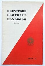 Brentford FC 1951-1952 Supporters Club Official Handbook