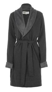 UGG Blanche II Black Bear Heather Womens Robe Size *All Sizes*