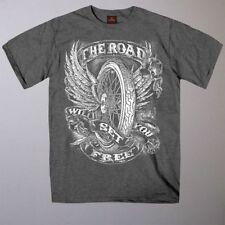 Markenlose Biker Herren-T-Shirts mit Rundhals-Ausschnitt und