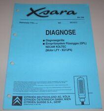 Werkstatthandbuch Citroen Xsara Einspritzsystem Flüssiggas GPL NECAM KOLTEC 1998