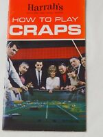Early Harrah's Casino Reno and Lake Tahoe HOW TO PLAY CRAPS Booklet