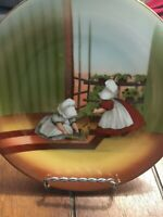 SUN-BONNET BABIES LIMITED EDITION ROYAL BAYREUTH GERMANY 1974 FRIDAY SWEEPING