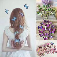 Schmetterling mit Strass Haarnadeln Braut Kommunion Hochzeit Hairpins Frisu M4L8