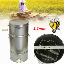 Bee Honey Extractor 2 Frame Stainless Steel SS Honeycomb Drum beekeeping 1.1mm