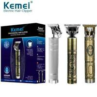 Electric Pro Cordless Clipper Trimmer T-Blade Wireless Portable Hair Shavers USA