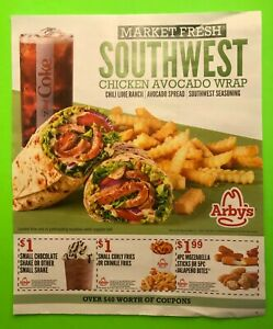 🍔 🍟🥤 ARBY'S Sheet of 15 Coupons, expire 8/31/21 🍔 🍟🥤