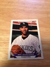 Topps 1993 Mo Sanford #634 Colorado Rockies Major Leagues Modern (1981-Now)
