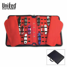 Professional 40 Folding Pocket Knife Roll Collection Storage Display Case New