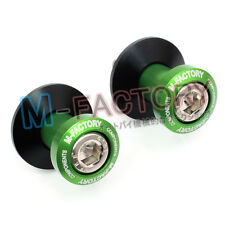 GREEN Billet Swingarm Spools for Kawasaki ZX6R ZX10R 2007 2009 2008 Ninja 10mm