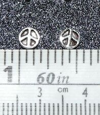 Sterling Silver  stud / post Peace Sign Earrings. 1 Pair .925 Real Silver !