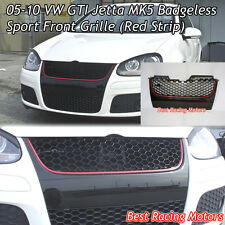Badgeless Front Grille (Red) Fits 05-10 VW GTI Jetta MK5