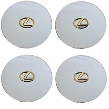 1993-1994 LEXUS LS400 CHROME CENTER CAP WITH GOLD EMBLEM COMPLETE SET OF 4