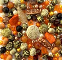 Large Pack of Orange Jewellery Making Beads 80g