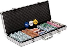 Pokerkoffer Spielkoffer Poker Set Aluminiumkoffer 500 teilig 2 Decks  B-WARE