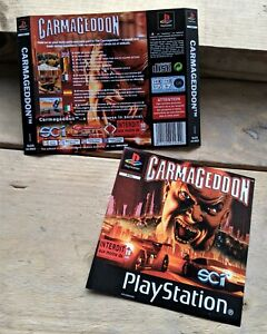 Carmageddon (SLES 01960) Genuine ART INSERTS ONLY (PS1) NO Game