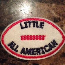 Vintage Little All American Football Fuzzy Patch Iron or Sew on NOS