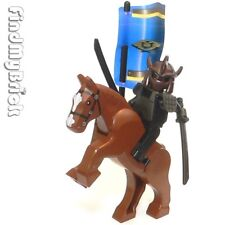 CM240 Lego CUSTOM  Samurai Warrior Shredder Soldier Minifigure & Horse NEW