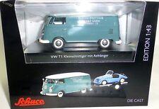 VW T1c Box Truck Kleinschnittger M Car Trailer Schuco 450374100 1:43 New Μ